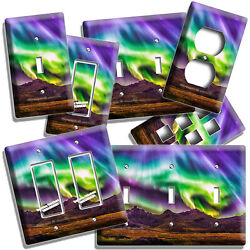 Colorful Lights Aurora Borealis Nature Fenomenon Light Switch Outlet Wall Plates