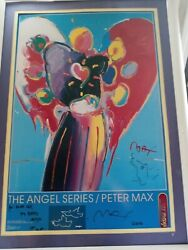 2 Signed Peter Max Posters Angel Seriesandnbsp Peace By The Year 2000