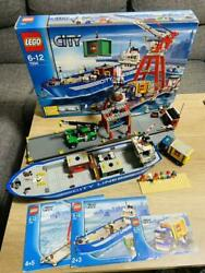 Lego City Harbor 7994 Container Stacker 7992 Set In 2007 Used Retired
