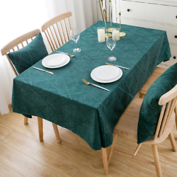 High Quality Home Kitchen Chenille Thick Table Cloths Hotel Wedding Dining Room