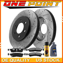 For 02 -06 Ford Expedition Lincoln Navigator Front E-coated Brake Rotors And Pads