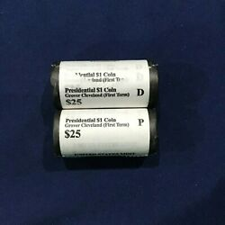 2012-pd Grover Cleveland 1 Presidential Dollars 2 Sealed Us Mint Bu Rolls Of 25