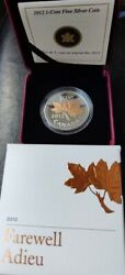 2012-1cent Fine Silver Coin-farewell/adieu, Comm Last Strike Of Penny, Gold Plat