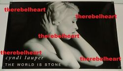 Cyndi Lauper The World Is Stone 1992 Uk Single Promo Poster Rolled Cindy - Rare
