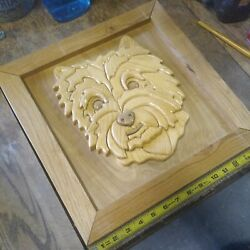 Vintage Wooden Schnauzer/terrier 3d Wall Decor--very Unique--awesome Subject