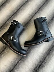 Red Wing Engineer Black Leather Boots 3354 Womens Size 8