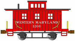 Bachmann 15755 N Western Maryland Old Time Caboose 1200