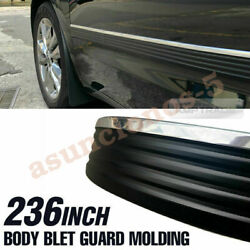 Black And Chrome Body Belt Exterior Side Molding Protector Roll For Truck Pick Up
