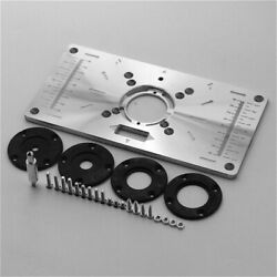 Tool Router Table Insert Plate Ring Aluminium Woodworking Benches Milling Trimmi