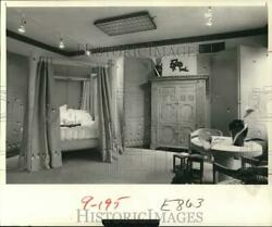 1979 Press Photo Bedroom Features Four-poster Bed And Antique Irish Armoire.