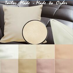 Tailor Madecover Only Faux Leather Sofa Patio Bench Cushion Pillow Case Pb1