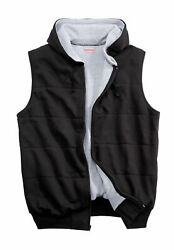 Boulder Creek By Kingsize Menand039s Big And Tall Andtrade Thermal Waffle Lined Fleece Vest -