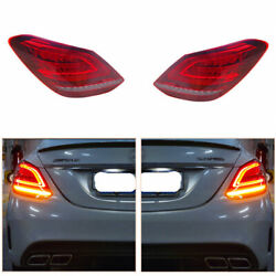 For Benz C-class W205 2014-2020 Red Led Turn Signal Dynamic Taillight Assembly