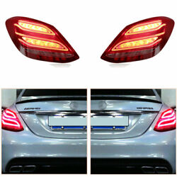 Taillight Assembly For Benz C-class W205 2014-2020 Red Led Turn Signal Dynamic