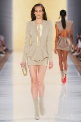 Alexandre Vauthier Padded Shoulders Jacket And Skirt Set Fr38 Runway Couture 2012