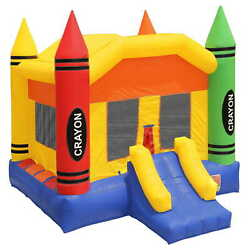 Commercial Grade Bounce House 100 Pvc Crayon Jump Inflatable Only