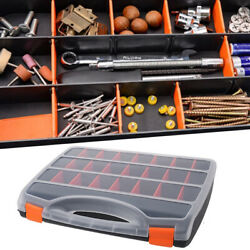 Compartment Small Parts Plastic Tool Storage Organizer Box Clear Lid Portable