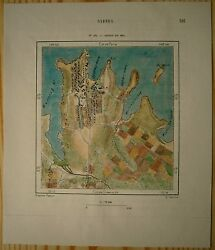 1889 Perron Map Sydney In Year 1802 New South Wales Australia 163