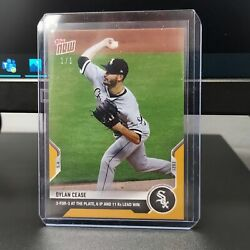 Dylan Cease - Leads Sox To Win -2021 Mlb Topps Now Card 171-gold Parallel 1/1