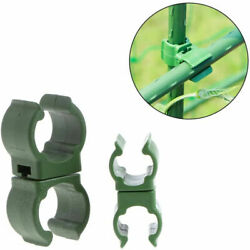 100pcs/pack Garden Trellis Swivel Plant Stake Connector Clip Pole Joiner Tool Us