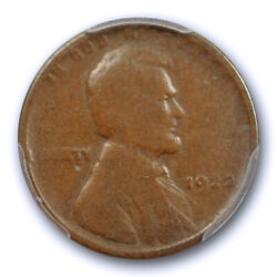 1922 No D 1c Strong Reverse Lincoln Wheat Cent Pcgs Vg 8 Very Good Original