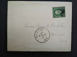 Maine Albany 1900 Cover, Dpo Oxford Co To Kineo, Fancy Receiving Cancel