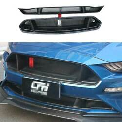 Sevigny Primer Black Front Mesh Grille Grill Cover For Ford Mustang 2018-2021