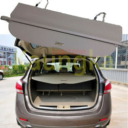 Rear Trunk Security Cargo Cover Privacy Beige Shade For 2008-2014 Nissan Murano