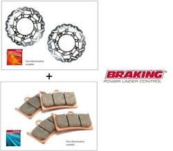 Paire Disques Braking Margherita + Plaquettes Synt Ducati Ss Supersport 600 1997