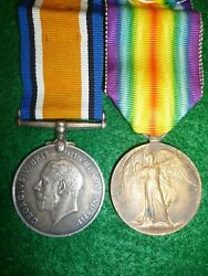 British Ww1 1914-18 Medal Pair To Military Foot Police - Baldray