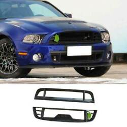 Gt500 Dry Carbon Fiber Front Mesh Grille Grill Cover For Ford Mustang 2009-2014