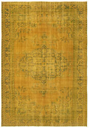 Vintage Hand-knotted Carpet 7and0393 X 10and0393 Traditional Oriental Wool Area Rug