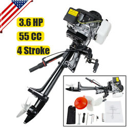 Pro 4 Stroke 3.6hp Outboard Motor 55cc Boat Engine Heavy Duty Air Cooling System