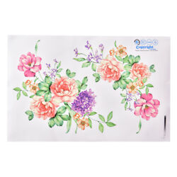 Peony Flowers Luxury Wall Stickers Art Home Decor PVC Removable Vinyl Decal Y N