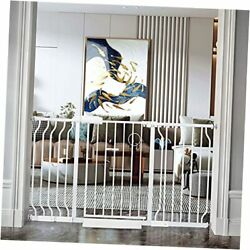 Hoooen Extra Wide Baby Gate Extra Tall Dog Gate For Stairs 53-57.5 Inch White