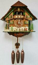 Vintage Black Forest Weight Driven Musical Automaton 8 Day Cuckoo Wall Clock