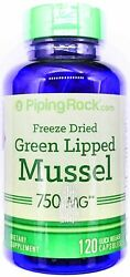 750mg Green Lipped Mussel Extract 120 Capsules Freeze Dried From New Zealand