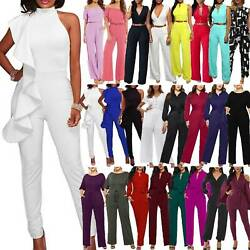 Plus Size Womens Casual Holiday Long Jumpsuit Ladies Party Playsuit Trousers Usa