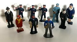 10 Vintage 1930s-40s Used In Lionel Model Train - Figures People Made In Japan