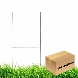 H Frame Wire Stakes 20 X10-inch Pkg Of 25 9ga Metal -yard Sign Stakes For Adve