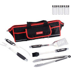 Bbq Grill Tools Set, Heavy Duty Stainless Steel Barbecue Grilling Accessories