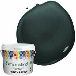 Microblend Exterior Paint And Primer - Almost Black/kentucky Blue Grass Flat ...