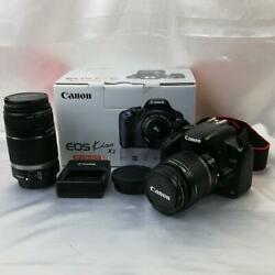 562 Normal Movable Cannon Eos Kiss Double Zoom Kit Lens Set