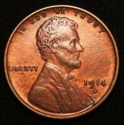 1914-s Lincoln Wheat Cent Key Date Au+