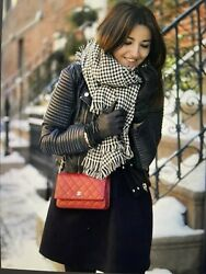 Wallet On Chain Woc Flap Bag Caviar Leather Red Shw