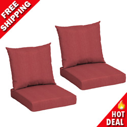 Deep Seat Chair Patio Cushions Set Pad Uv Resistant 45x22 Porch Outdoor 2 Pack