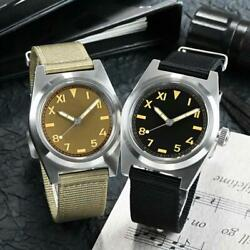 San Martin Nh35 38mm Vintage Military Sapphire Automatic Mechanical Men Watches