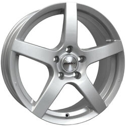 Alloy Wheels 17 Calibre Pace Silver For Toyota Celica 5 Stud [mk4] 85-89