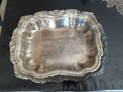 Lancaster Rose By Poole Silverplated Footed Casserole Dish