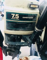 Two Gamefisher 7.5 Hp Outboard Motor